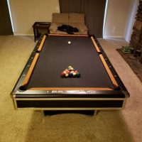 8' C.L. Bailey Black Knight Pool Table