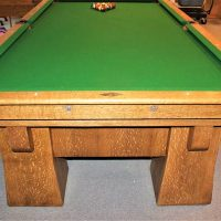 9' Oliver L . Briggs antique Pool Table